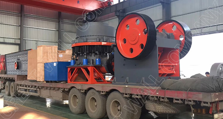 Cone crusher and jaw crusher for crushing plant Zambia
