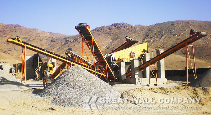 Pebble crusher manufacturer hot sale in artificial sand making plant